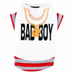T-Shirt 'Bad Boy' bel za psa