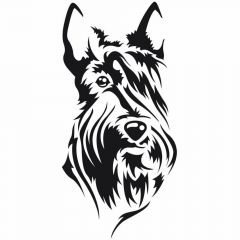 Nalepka Scottish Terrier - fina