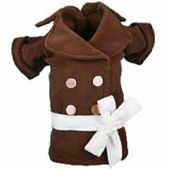 Brown Fleece Coat von DoggyDolly Hundebekleidung W068