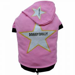 DoggyDolly Star Zvezda pink pulover za pse